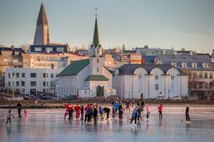 A winter day in Reykjavík city centre.