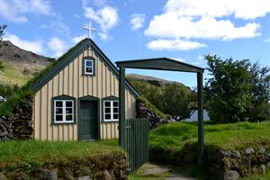 Explore old Icelandic turf houses, churches and museums.