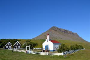 Enjoy historic sites and stunning mountain views in the Westfjords.