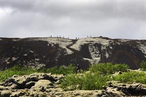 Hike on Grábrók Crater
