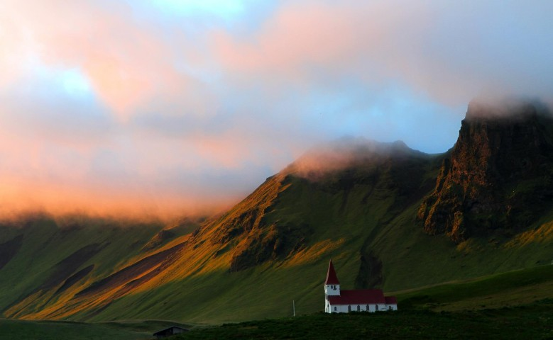 Sunset in Vík - South Iceland